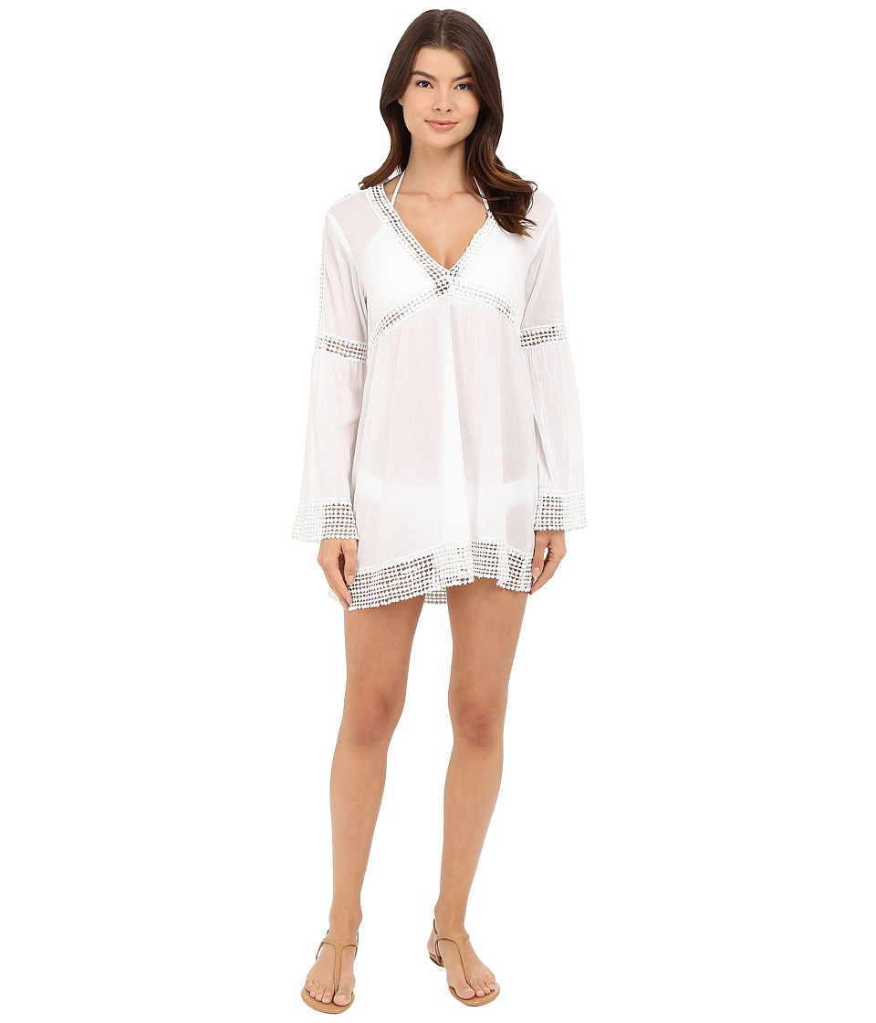 Vitamin A Swimwear Tara Tunic Cover-Up (White Vitamin A Organics) Women