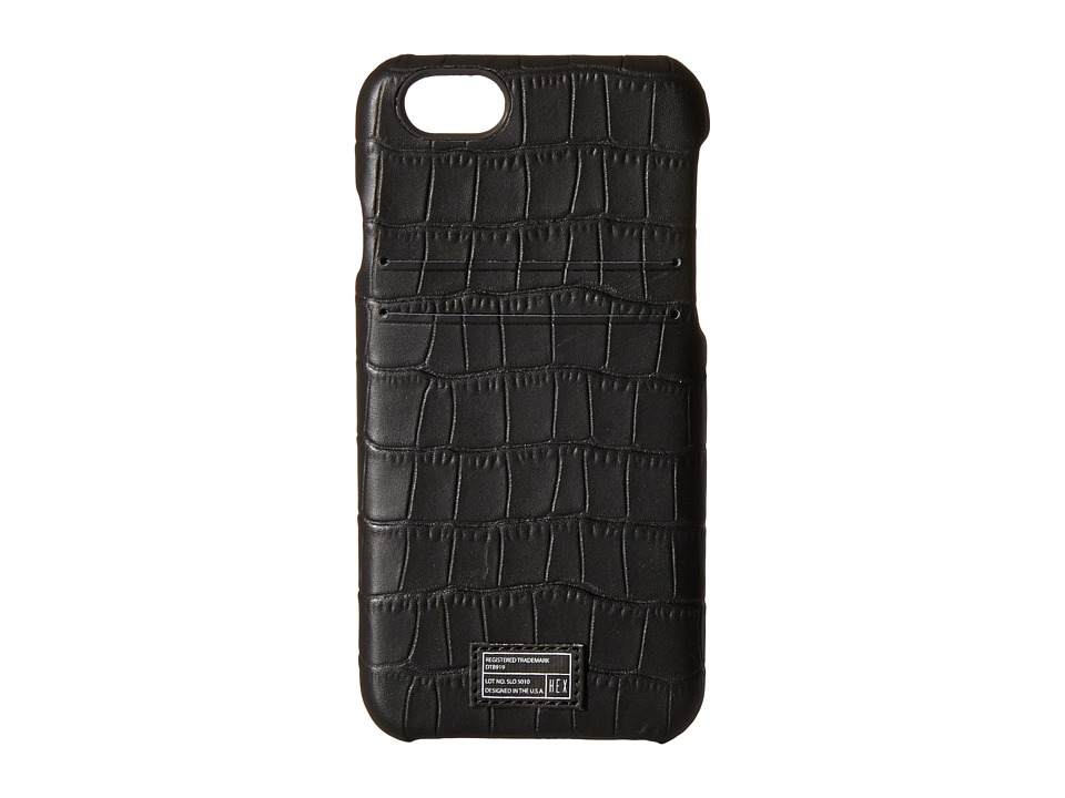HEX - iPhone6/6S Solo Wallet (Black Crocodile) Cell Phone Case