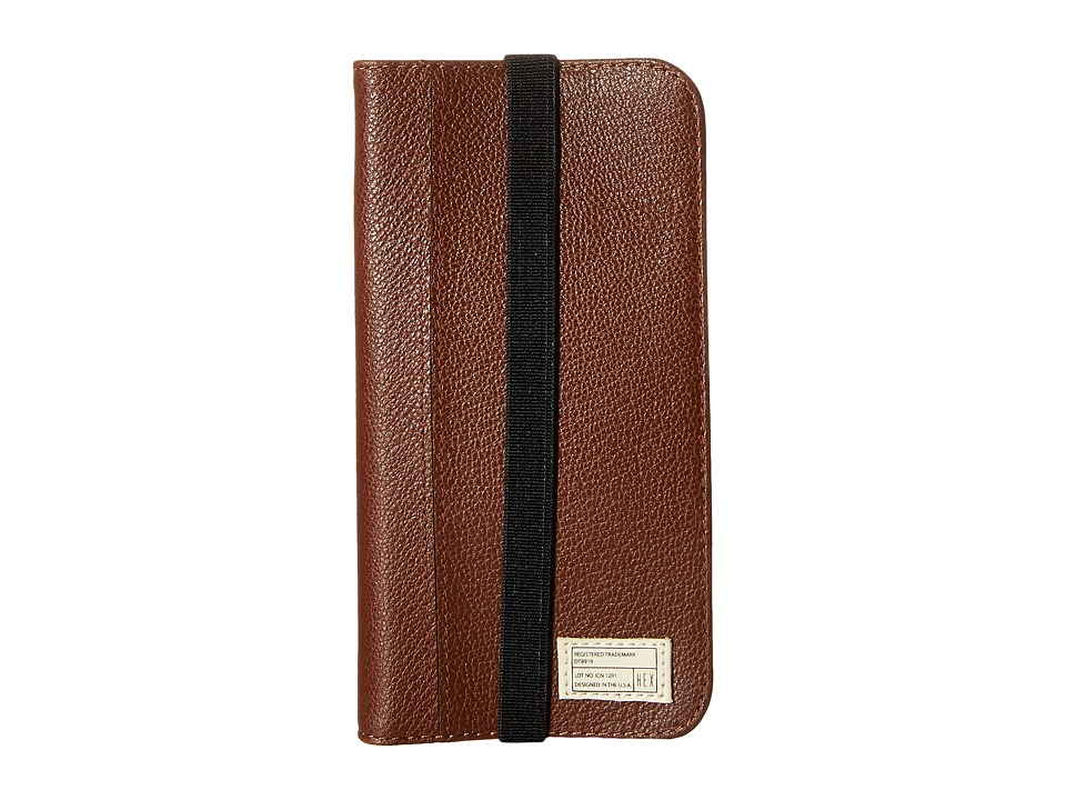 HEX - iPhone6/6S Icon Wallet (Dark Brown) Cell Phone Case