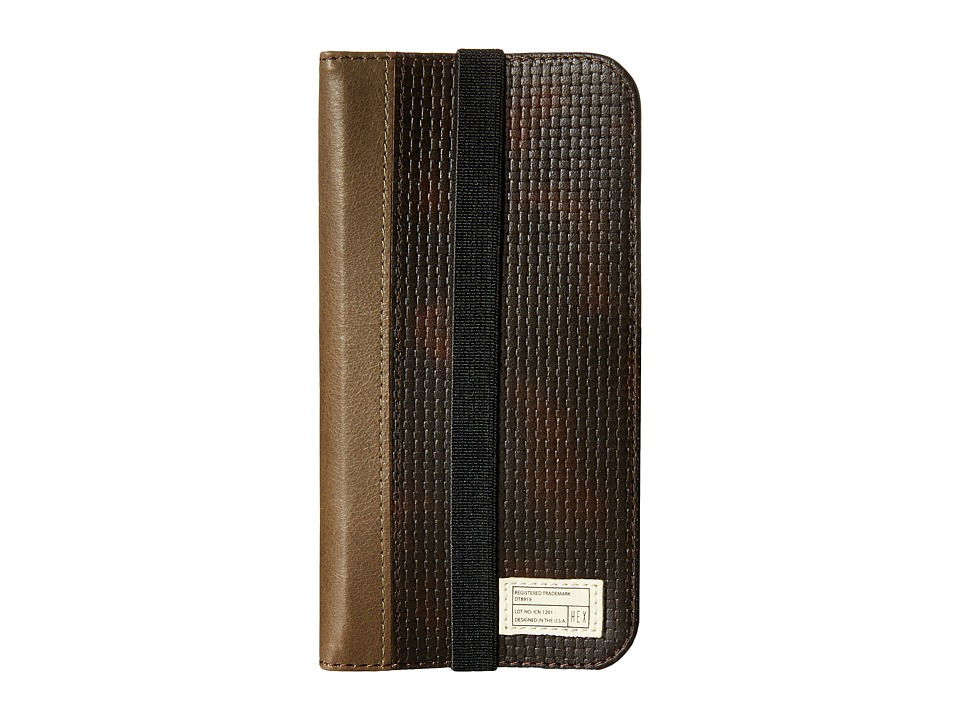 HEX - iPhone6/6S Icon Wallet (Brown Woven) Cell Phone Case