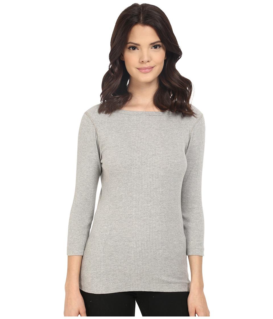 Three Dots - Manuela British Tee (Granite) Women's T Shirt