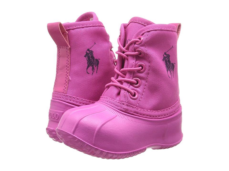 Polo Ralph Lauren Kids - Eisley (Toddler) (Fuchsia Ballistic Nylon/Navy Pony Player) Girl's Shoes