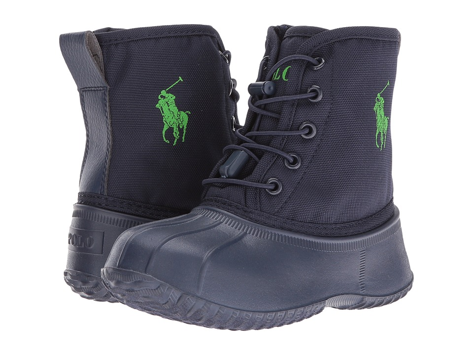 Polo Ralph Lauren Kids - Eisley (Little Kid) (Navy Ballistic Nylon/Green Pony Player) Kid's Shoes