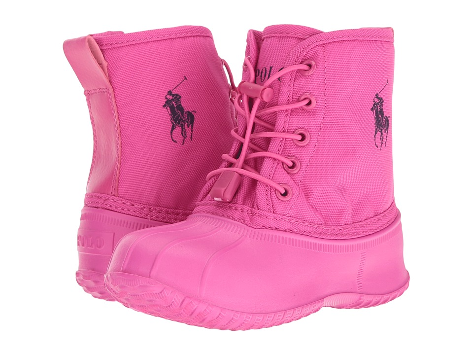 Polo Ralph Lauren Kids - Eisley (Little Kid) (Fuchsia Ballistic Nylon/Navy Pony Player) Girl's Shoes