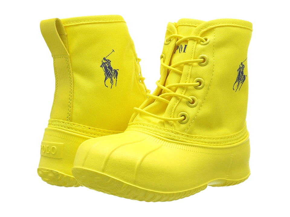 Polo Ralph Lauren Kids - Eisley (Toddler) (Yellow Ballistic Nylon/Royal Pony Player) Kid's Shoes
