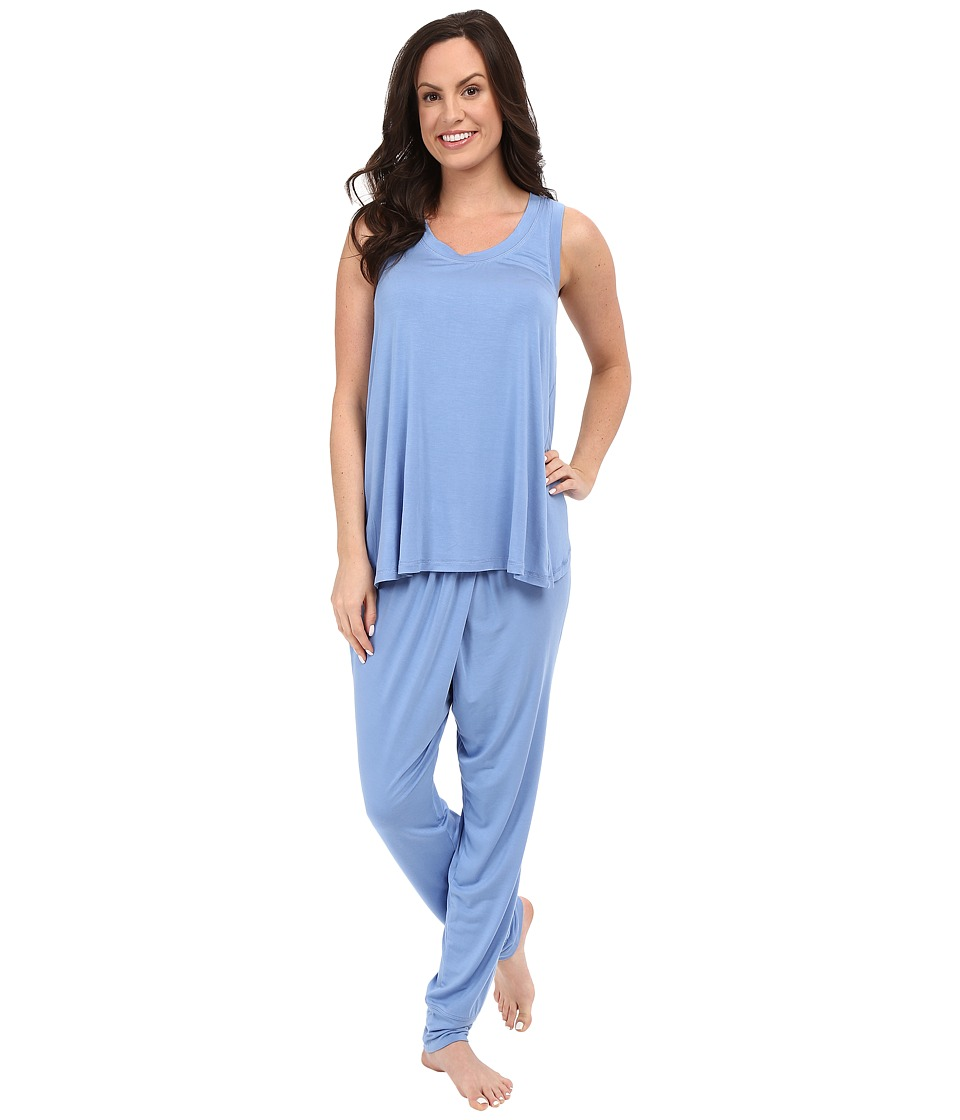 Midnight by Carole Hochman - Sleeveless Pajama (Light Blue) Women's Pajama Sets