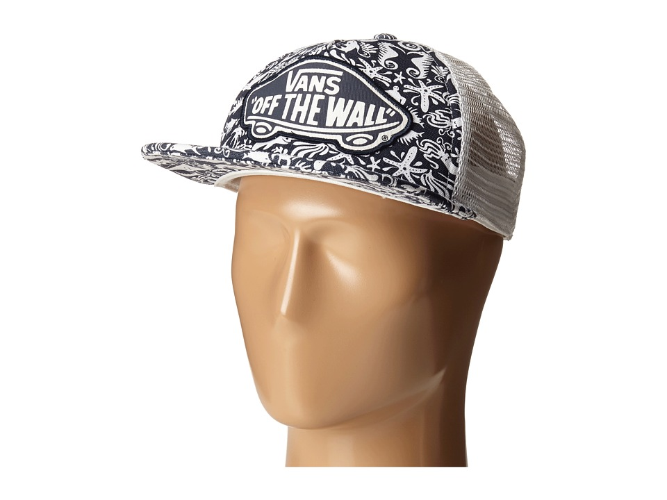 Vans - Beach Girl Trucker Hat (Original Navy/True White) Caps