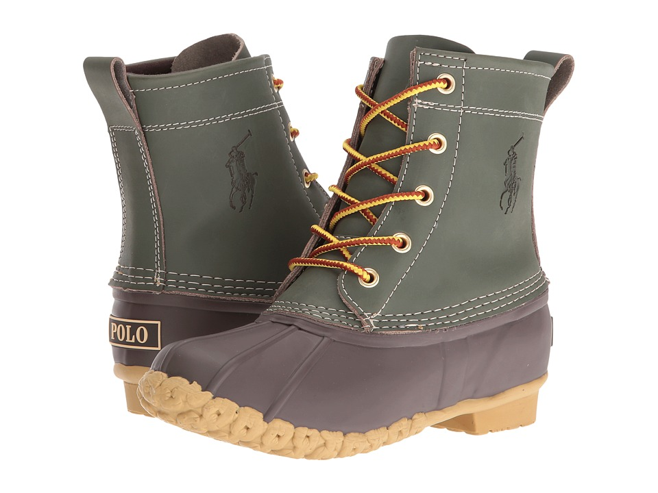 Polo Ralph Lauren Kids - Ewan (Little Kid/Big Kid) (Hunter Green Leather) Boy's Shoes