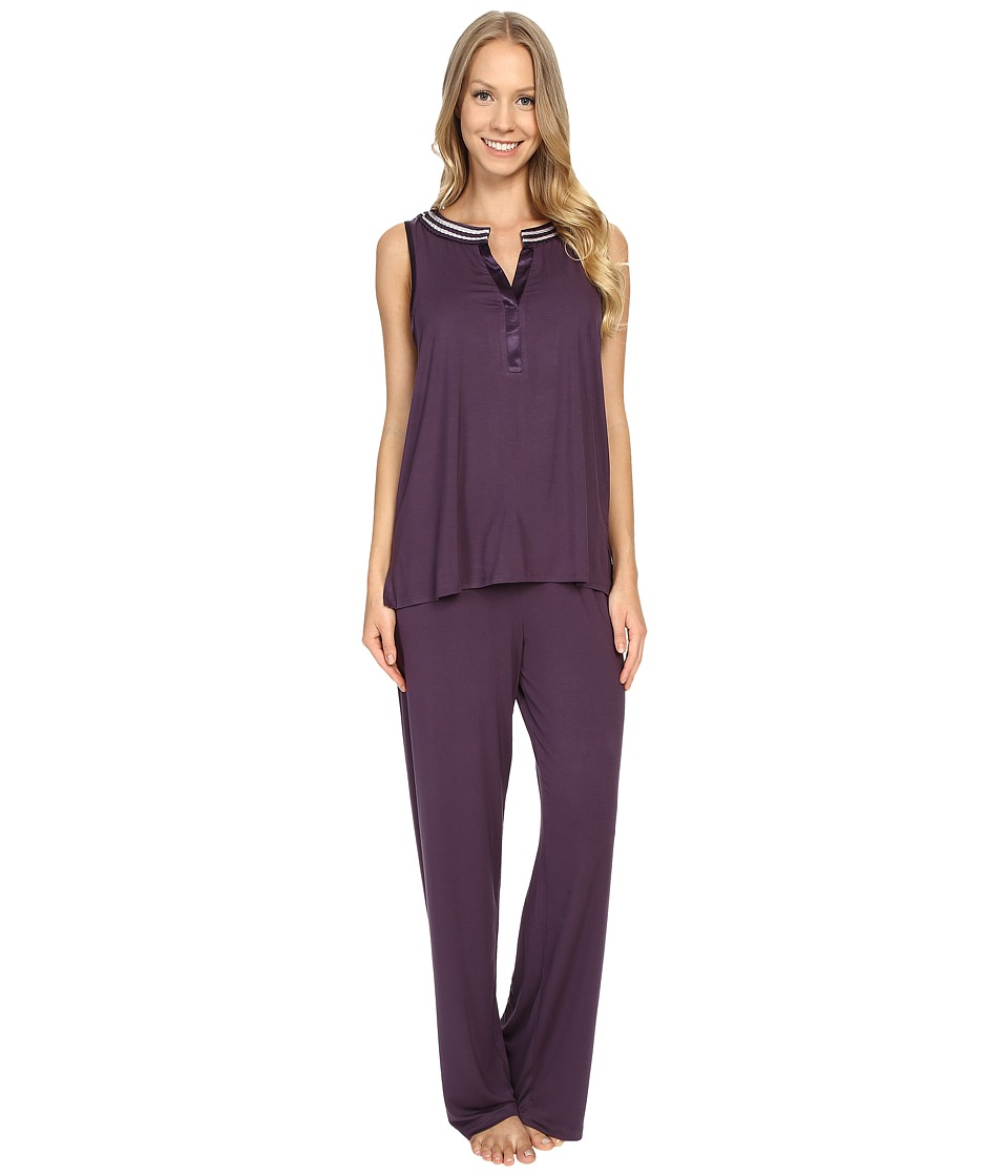 Midnight by Carole Hochman - Pajama with Scallop Trim (Eggplant) Women's Pajama Sets