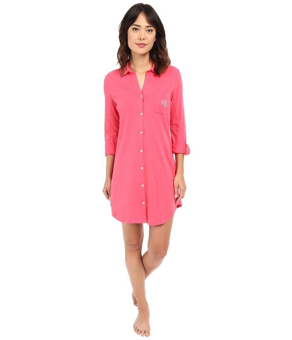 LAUREN Ralph Lauren - Essential Sleepshirt (Coral) Women's Pajama