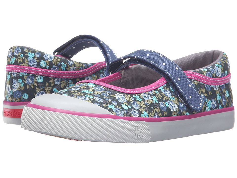 See Kai Run Kids - Marie (Toddler/Little Kid) (Navy/Berry) Girl's Shoes