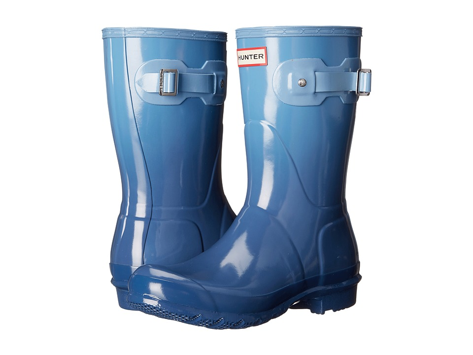 Hunter - Original Color Haze Short (Tarp Blue/Blue Sky) Women's Rain Boots