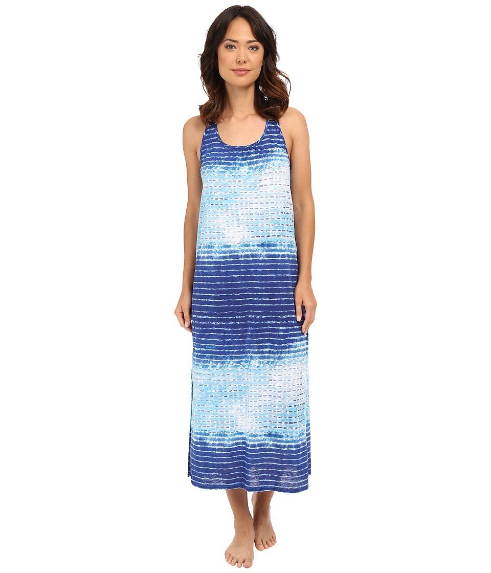LAUREN Ralph Lauren - Maxi Gown (Stripe Blue) Women's Pajama