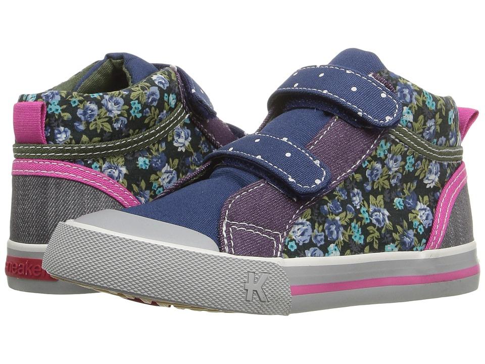 See Kai Run Kids - Kya (Toddler/Little Kid) (Navy/Purple) Girl's Shoes
