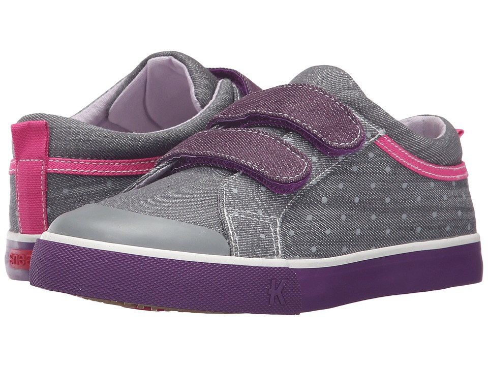See Kai Run Kids - Robyne (Toddler/Little Kid) (Gray/Purple) Girl's Shoes