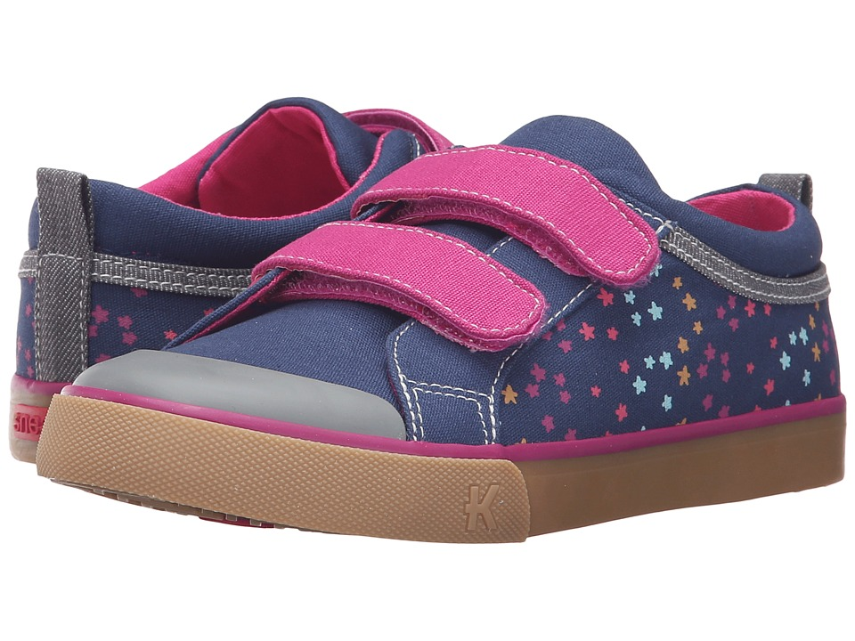 See Kai Run Kids - Robyne (Toddler/Little Kid) (Navy/Berry) Girl's Shoes