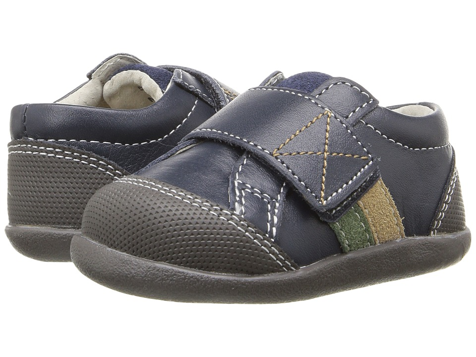 See Kai Run Kids - Randall (Infant/Toddler) (Navy Leather) Boy's Shoes