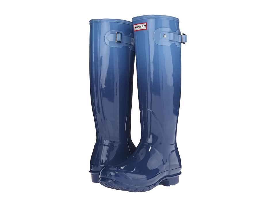 Hunter - Original Tall Color Haze (Tarp Blue/Blue Sky) Women's Rain Boots