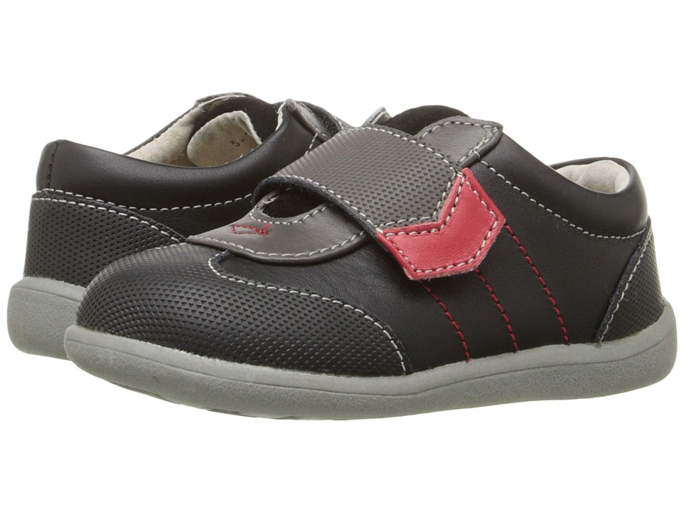 See Kai Run Kids - Kanoa (Toddler) (Black Leather) Boys Shoes