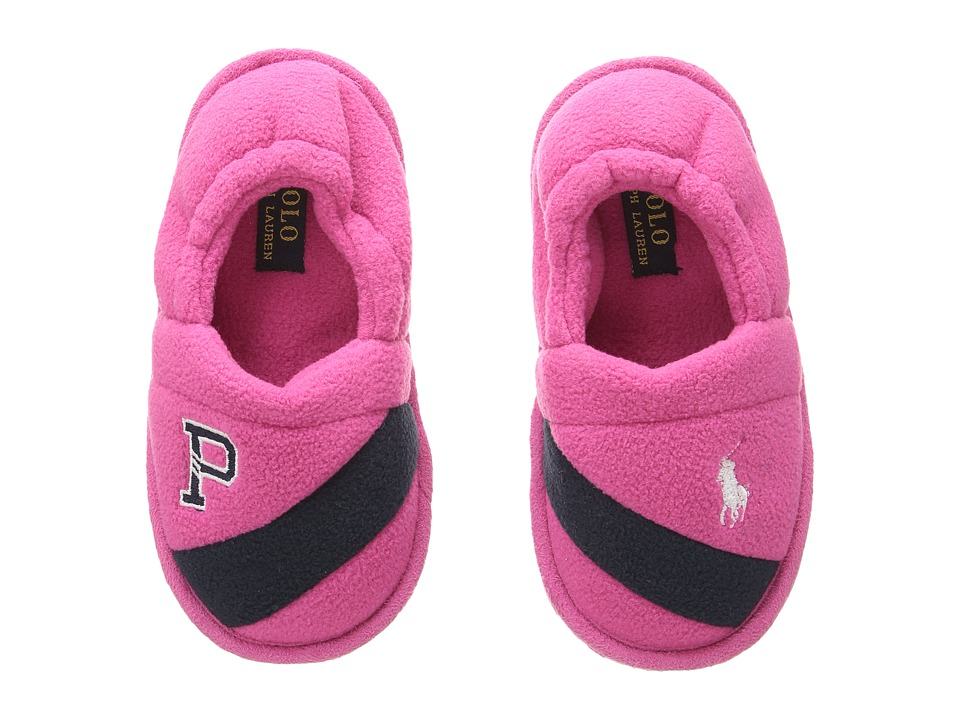 Polo Ralph Lauren Kids - Rugby P A-Line (Toddler) (Fuchsia Fleece/Navy/White Pony) Girl's Shoes