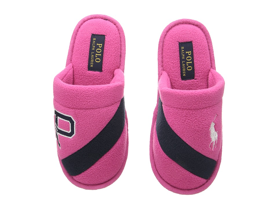 Polo Ralph Lauren Kids - Rugby P Scuff (Little Kid) (Fuchsia Fleece/Navy/White Pony) Girl's Shoes