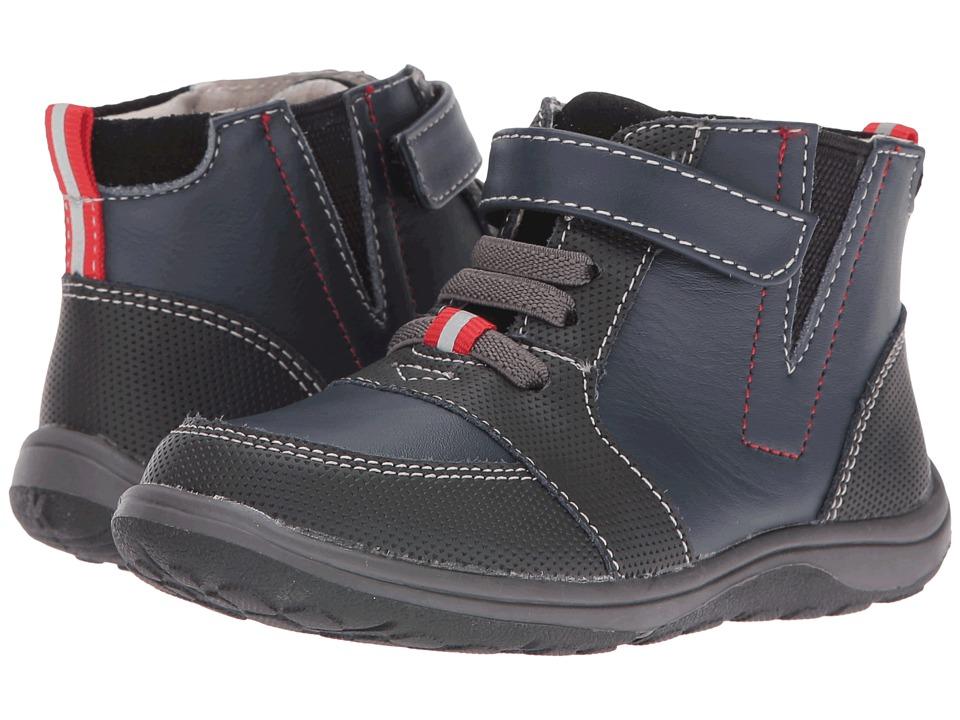See Kai Run Kids - Ian (Toddler/Little Kid) (Navy/Black) Boy's Shoes