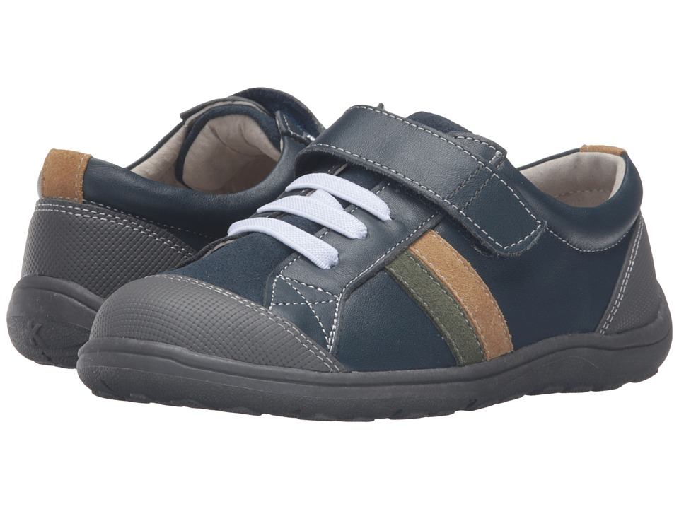 See Kai Run Kids - Randall (Toddler/Little Kid) (Navy Leather) Boy's Shoes
