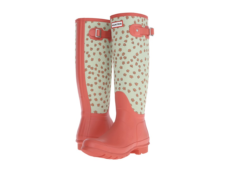 Hunter - Original Tall Festival Floral (Sunset/Grey Pistachio Floral) Women's Rain Boots