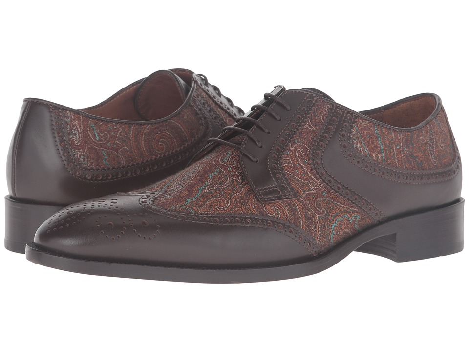 Etro - Arnica Oxford (Multi Brown/Orange) Men's Lace up casual Shoes