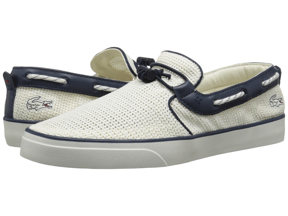 Lacoste - Gazon Deck 216 1 (White/Navy) Men's Shoes