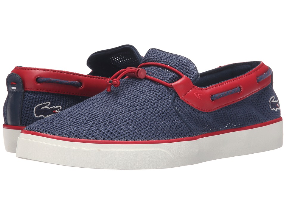 Lacoste - Gazon Deck 216 1 (Navy/Red) Men's Shoes