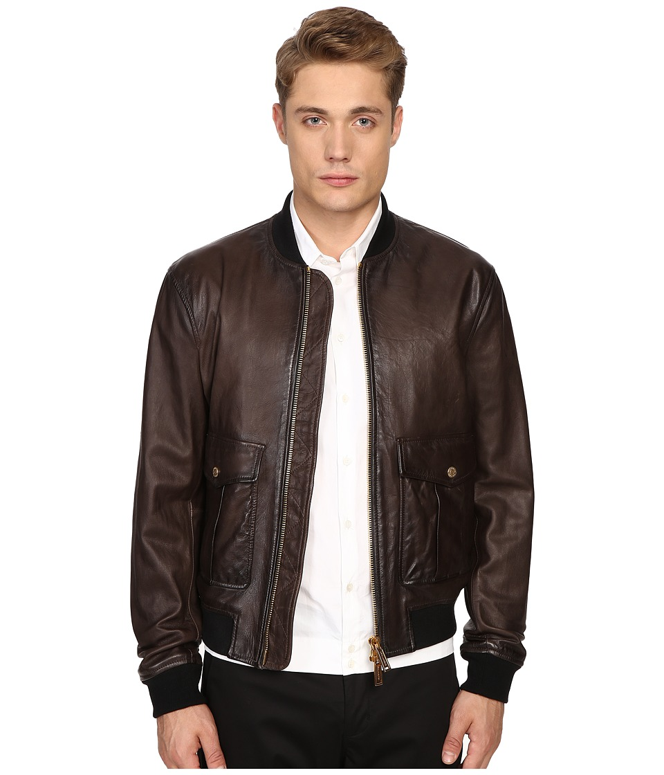 DSQUARED2 - Pilot Leather Bomber (Brown) Men's Coat