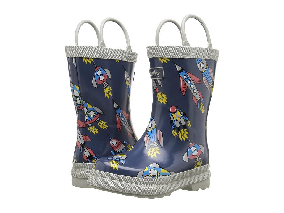 Hatley Kids Retro Rocket Rainboots (Toddler/Little Kid) (Grey) Boys Shoes