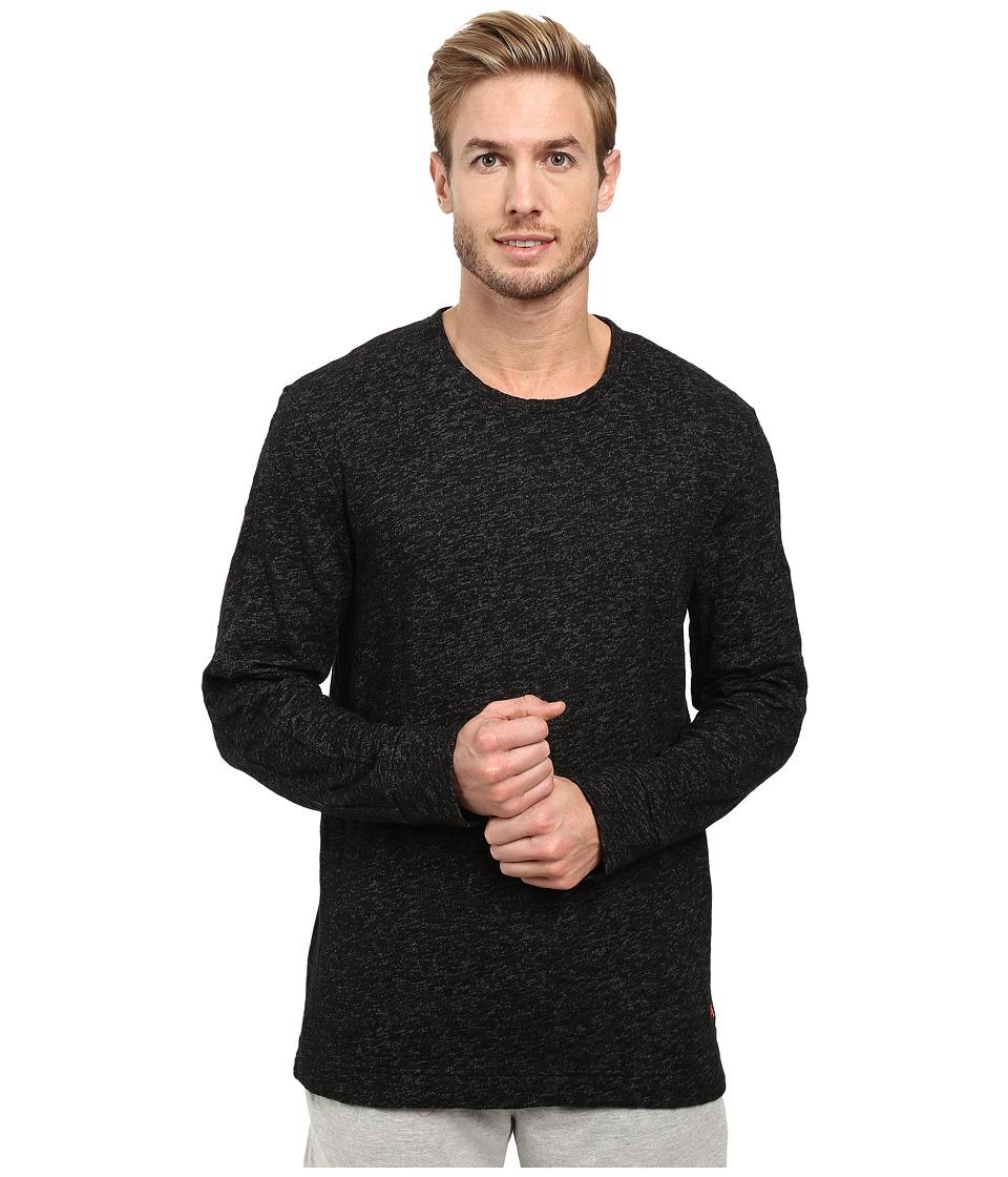 Tommy Bahama - Slub Knit Crew Pullover (Black/Coal) Men's Clothing
