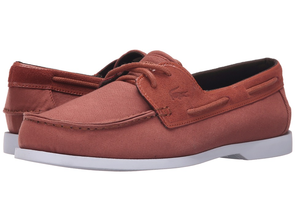 Lacoste - Navire Casual 216 1 (Dark Tan) Men's Shoes