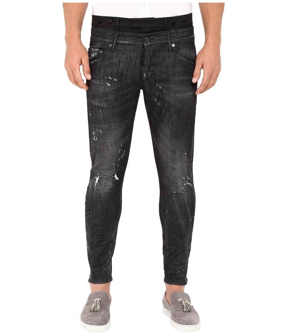 DSQUARED2 - Uniform Outrage Wash Mixed Jeans in Black (Black) Men's Jeans