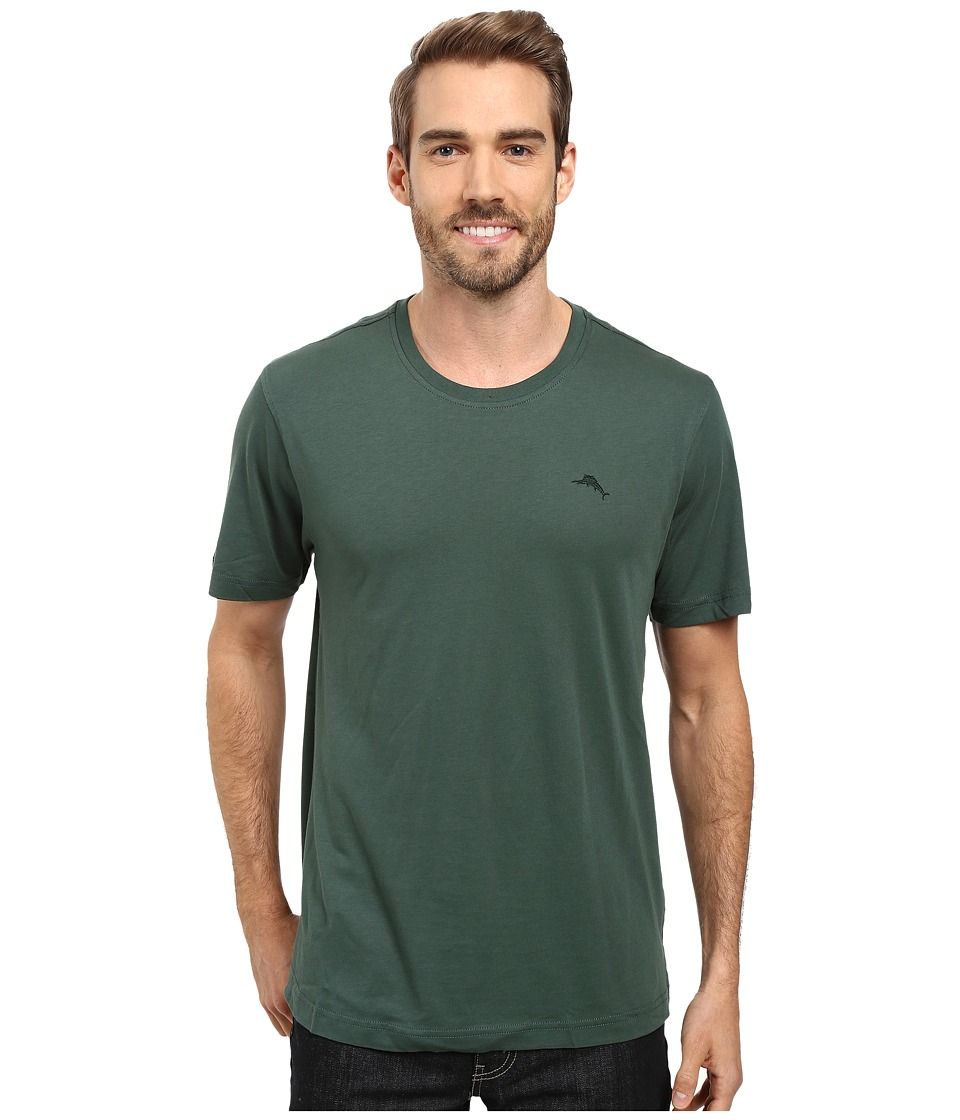 Tommy Bahama - Solid Cotton Modal Jersey Basic Short Sleeve T-Shirt (Bottle Green) Men's T Shirt