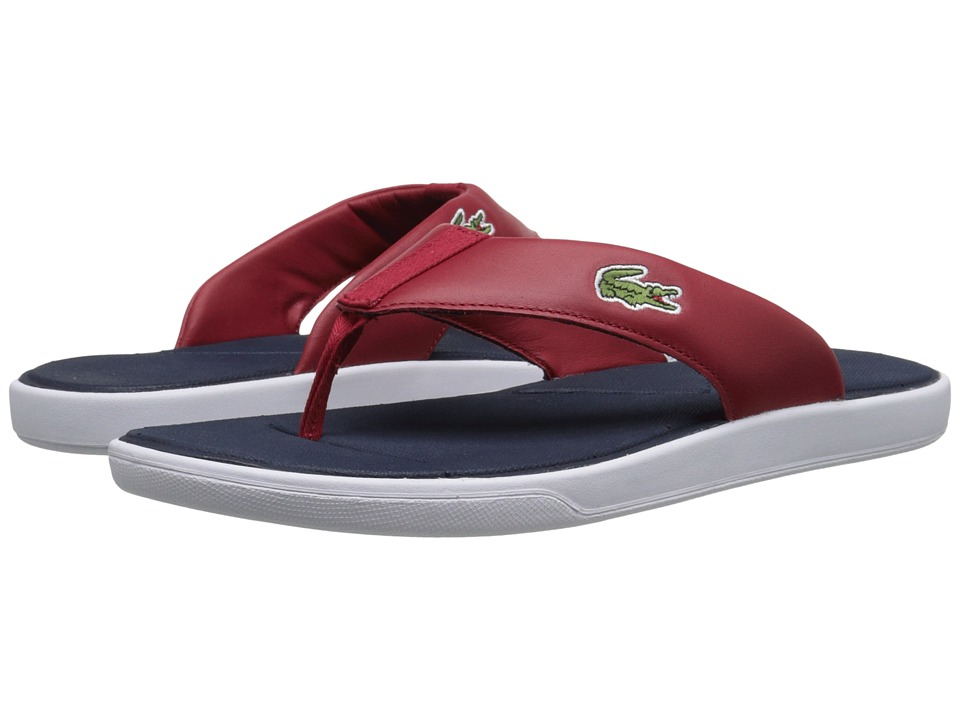 Lacoste - L.30 216 1 (Navy/Red) Men's Sandals
