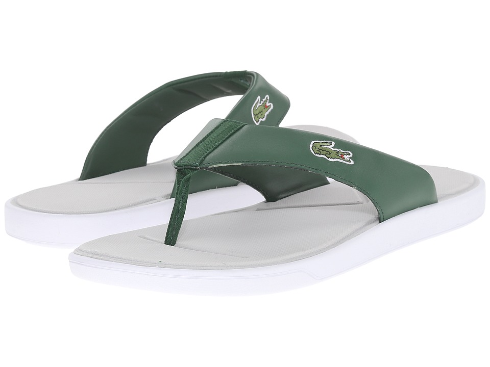 Lacoste - L.30 216 1 (Dark Green/Light Grey) Men's Sandals