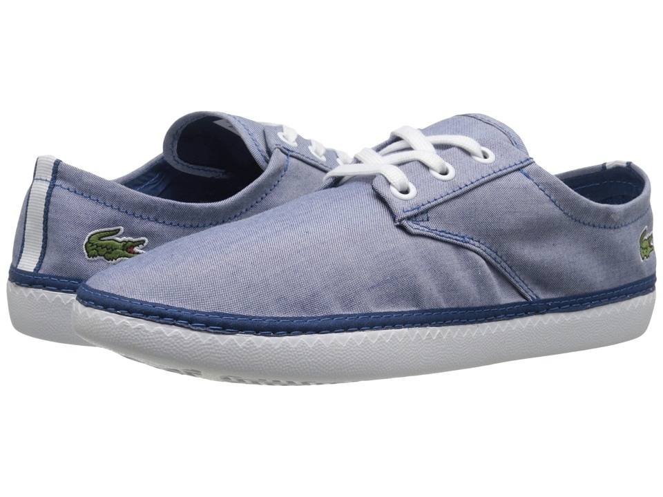 Lacoste - Malahini Deck 216 1 (Blue) Men's Shoes