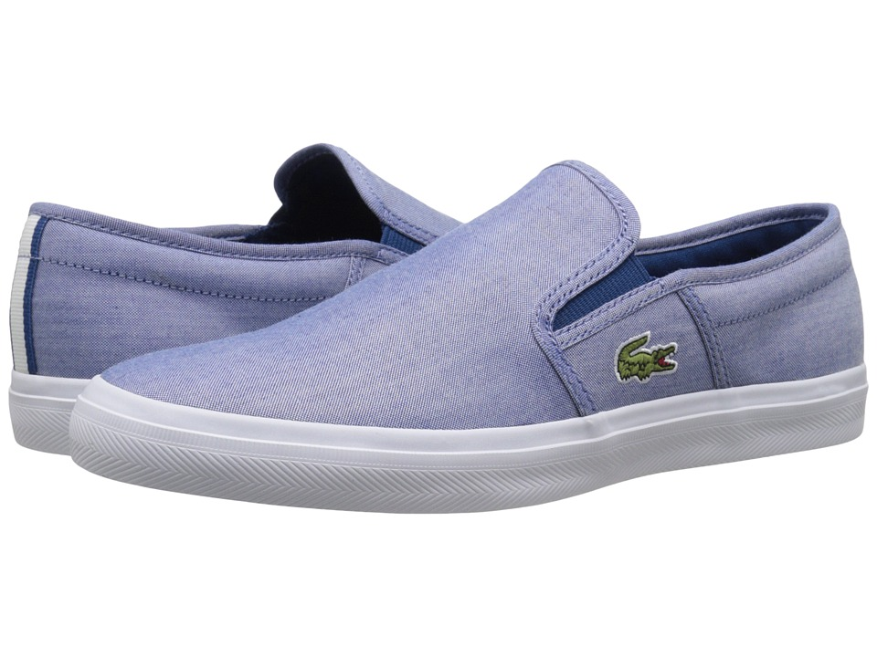 Lacoste - Gazon Sport 216 1 (Blue) Men's Slip on Shoes