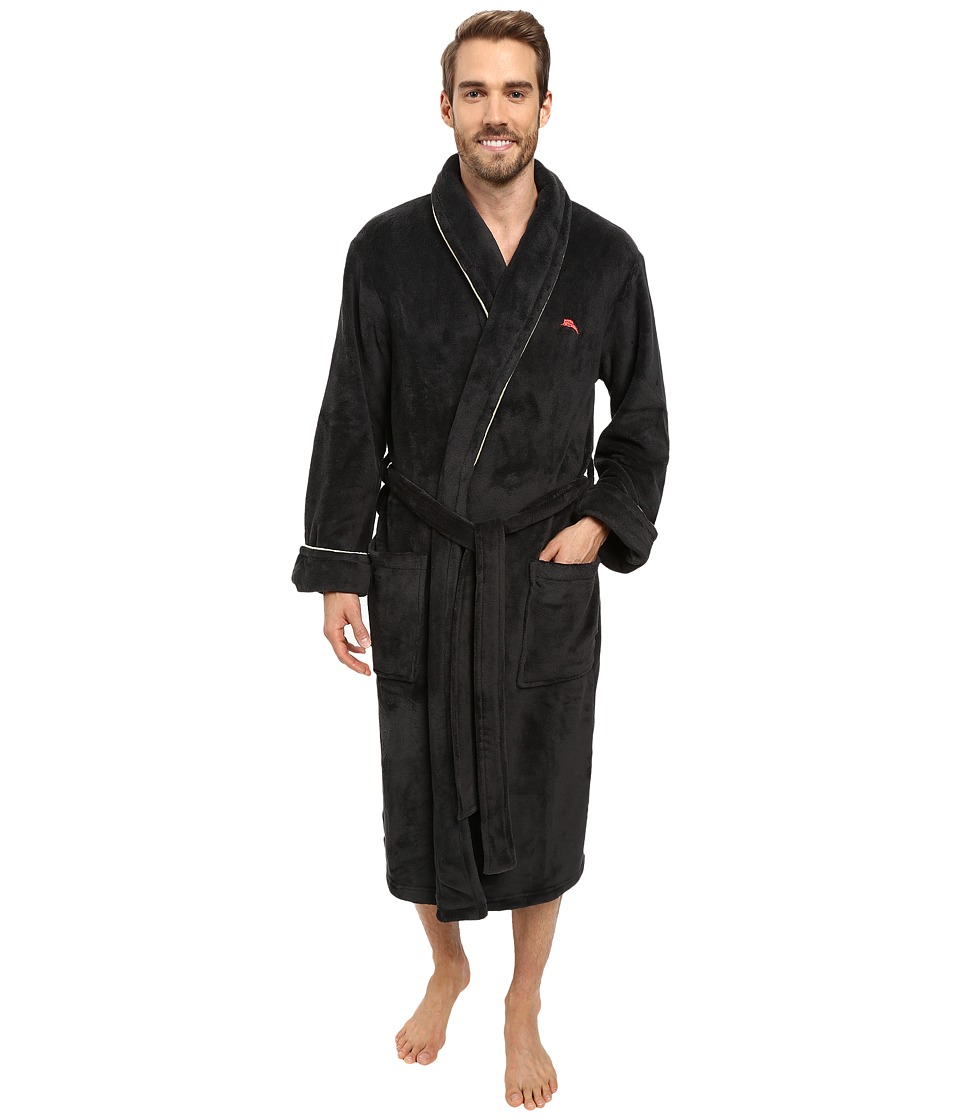 Tommy Bahama - Vintage Marlin Plush Robe (Coal) Men's Robe