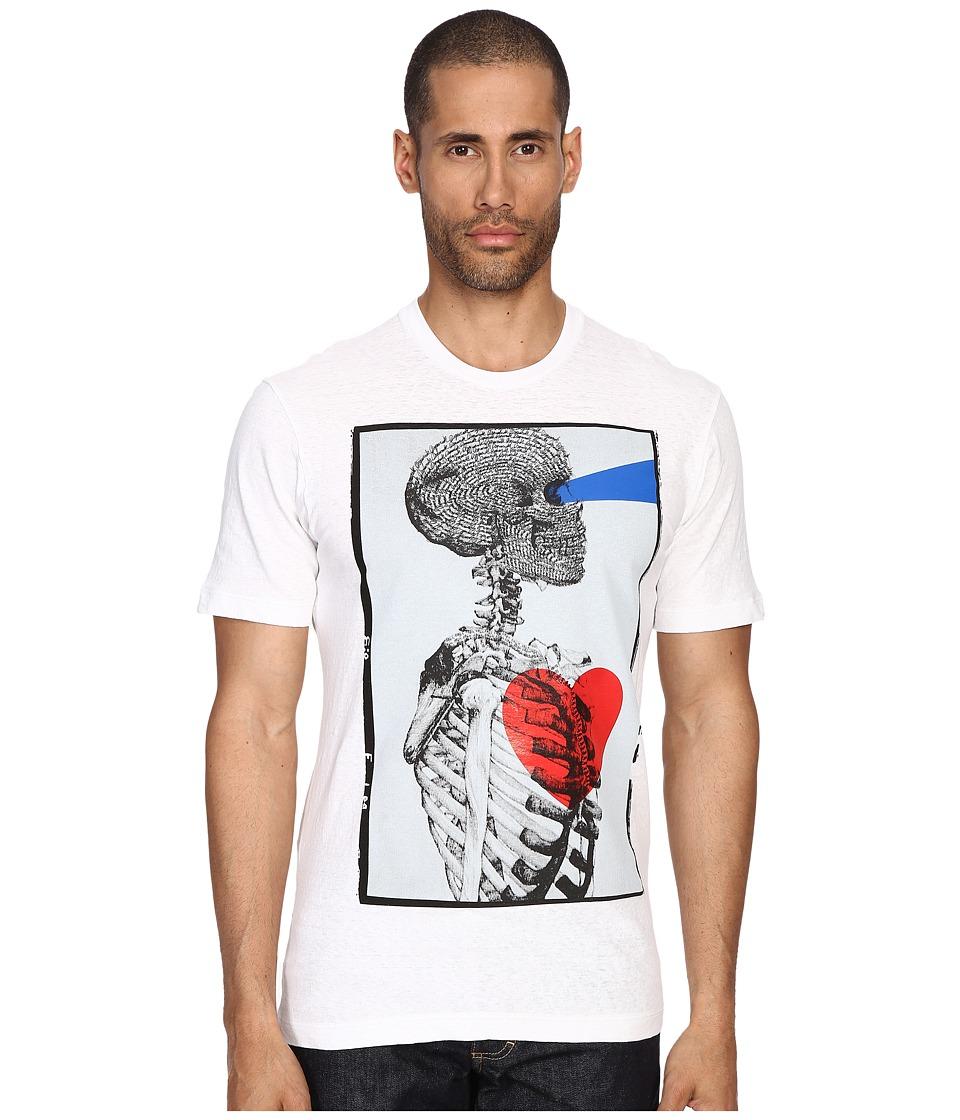 DSQUARED2 - Tight Hetero Soft Shinty T-Shirt (White) Men's T Shirt