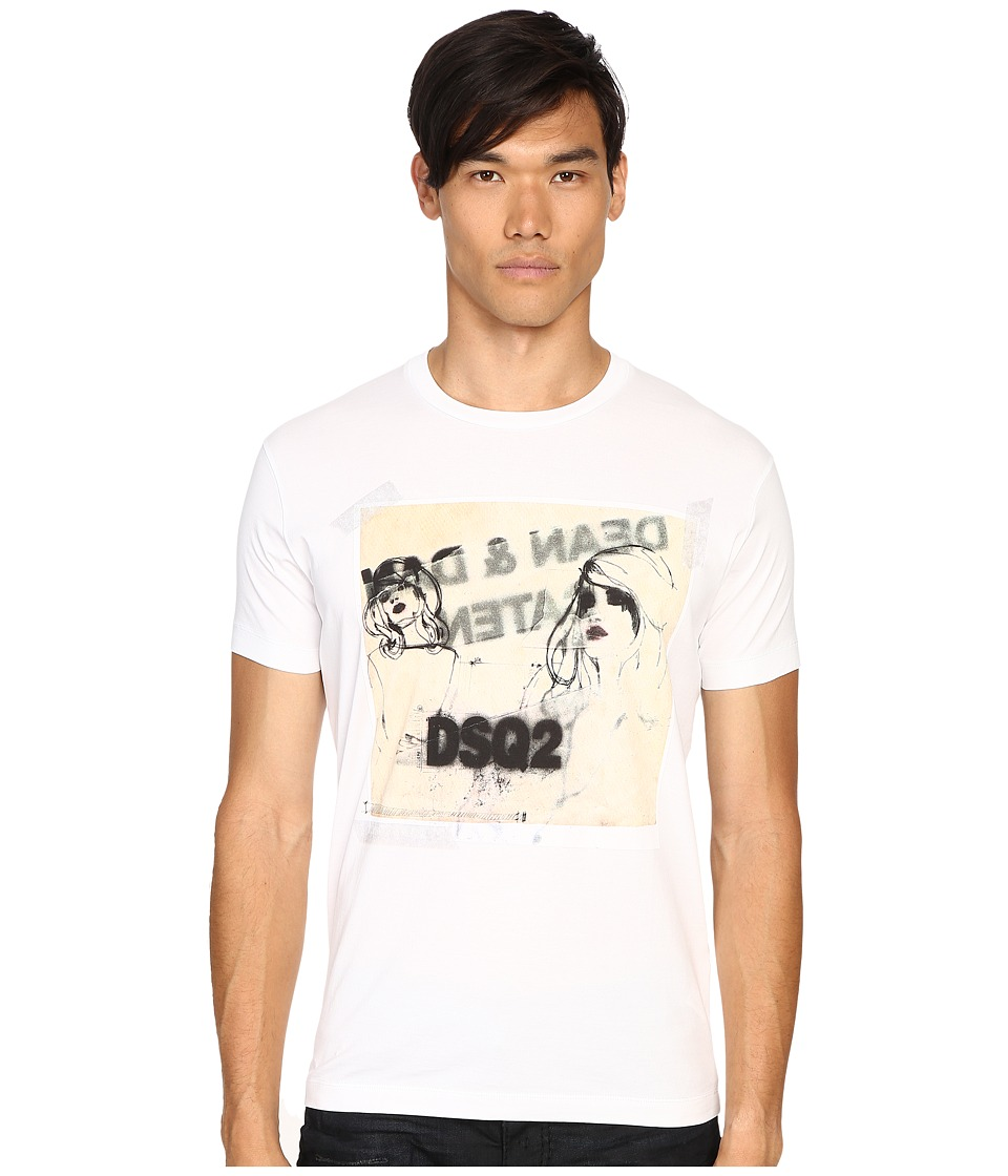 DSQUARED2 Chic Dan Fit Soft Print T-Shirt (White) Men