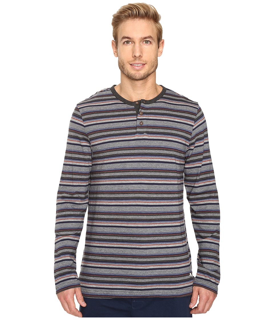 Tommy Bahama - Yarn-Dye Cotton Modal Jersey Long Sleeve Henley (Sail Striped Heather Multi) Men's Long Sleeve Pullover