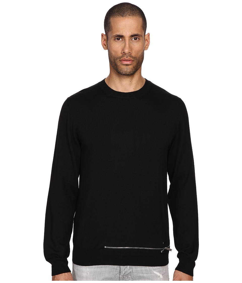 DSQUARED2 Wool Pullover with Zipper (Black) Men