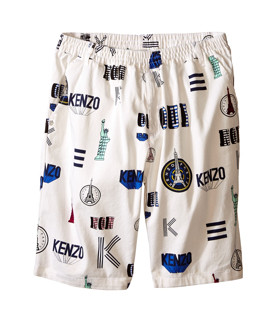 Kenzo Kids - Oui Non Bermudas (Little Kids/Big Kids) (White) Girl