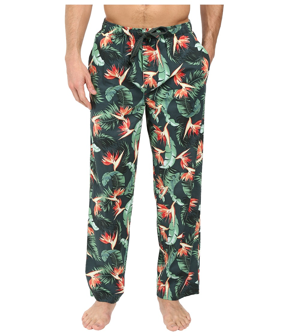 Tommy Bahama - Island Washed Cotton Woven Pants (Birds of Paradise) Men's Pajama