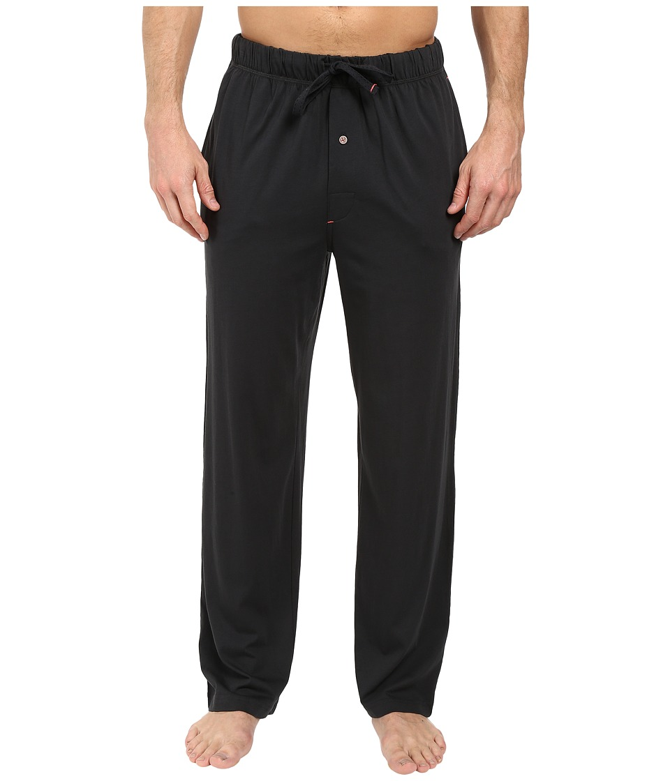 Tommy Bahama - Solid Cotton Modal Jersey Basic Pants (Coal) Men's Pajama