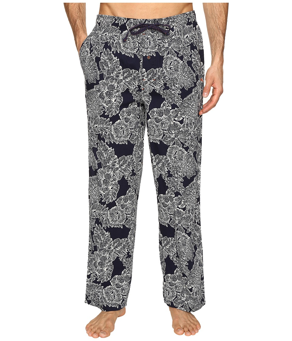 Tommy Bahama - Island Washed Cotton Woven Pants (Royal Palm Navy) Men's Pajama